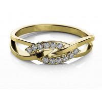 Couple Zlatý dámský prsten Emma 6810565 Velikost prstenu: 51