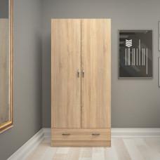 Dvoudveřová šatní skříň 75088 dub sonoma - TVI