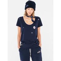 Femi Stories NASEE NVY dámské tričko s krátkým rukávem - M