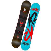 K2 VANDAL BLACK/RED dětský snowboard - 137