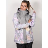 Roxy JETTY BLOCK MICRO CHIP EDELWEISS zimní bunda dámská - M