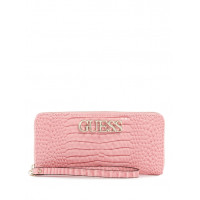 GUESS peněženka Uptown Chic Croc Zip-around Wallet pink vel.