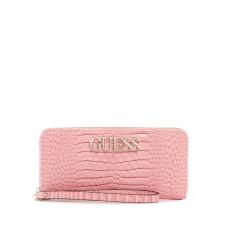 GUESS peněženka Uptown Chic Croc Zip-around Wallet pink vel.