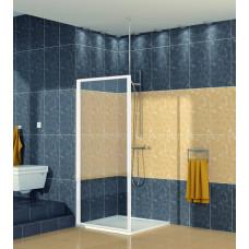 SanSwiss ECOF 0750 04 07 Boční stěna sprchová 75 cm, bílá/sklo