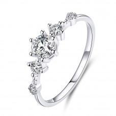 OLIVIE Stříbrný zásnubní prsten 4122 Velikost prstenů: 7 (EU: 54 - 56)