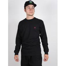 Vans VANS X KYLE WALKER O black pánské tričko s dlouhým rukávem - L