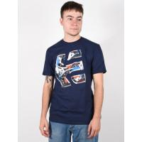 Etnies Kicks DARK NAVY pánské tričko s krátkým rukávem - M