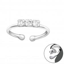 OLIVIE Stříbrná záušnice s krystalky 2752