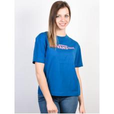 Vans FUNNIER TIMES BOXY BLUE SAPPHIRE dámské tričko s krátkým rukávem - M