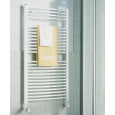KERMI - LR0101200452XXK / B-20 R, koupelnový radiátor zahnutý 1200x450mm, bílá