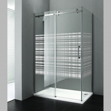 GELCO - DRAGON obdélníková zástěna 1200x900mm, sklo CANVAS, levá (GD4912)