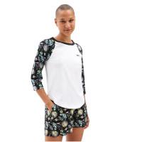 Vans CALIFAS WHITE/CALIFAS BLACK dámské tričko s dlouhým rukávem - S