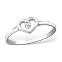 OLIVIE Stříbrný prsten SRDÍČKO 0952 Velikost prstenů: 7 (EU: 54 - 56)