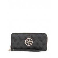 GUESS peňaženka Kamryn Logo Zip-Around Wallet coal vel.