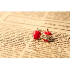 Náušnice Jablko - 2 barvy Barva: Červená