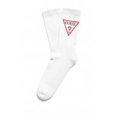 GUESS ponožky Triangle Logo Crew Socks bílé vel.