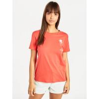 Billabong COSMO SUNSET RED dámské tričko s krátkým rukávem - XS