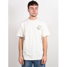 RVCA TROPICAL DISASTER ANTIQUE WHITE pánské tričko s krátkým rukávem - M