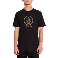 Volcom Crisp Stone black pánské tričko s krátkým rukávem - XL