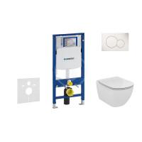 Geberit Sada pro závěsné WC + klozet a sedátko Ideal Standard Tesi - sada s tlačítkem Sigma01, bílé 111.300.00.5 NF1