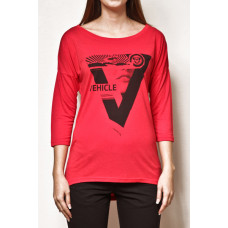 Vehicle ATLAS RED dámské tričko s dlouhým rukávem - M