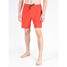 Volcom Lido Solid Mod TRUE RED pánské plavecké šortky - 34