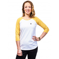 Horsefeathers NEKANE buff yellow dámské tričko s dlouhým rukávem - XS