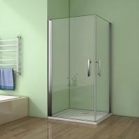 Sprchový kout MELODY A108 100x80 cm se dvěma jednokřídlými dveřmi včetně sprchové vaničky