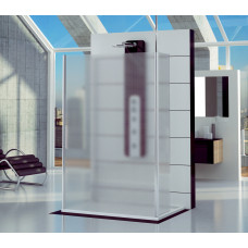 SanSwiss FUS2 0900 50 30 Pevná stěna samostatná s 2 vzpěrami 90 cm, aluchrom/mastercarré