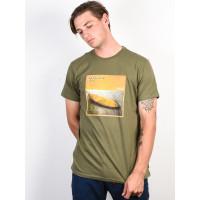 Billabong FLEX HULL LT MILITARY pánské tričko s krátkým rukávem - M
