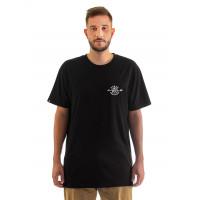 Horsefeathers SHAFT black pánské tričko s krátkým rukávem - S