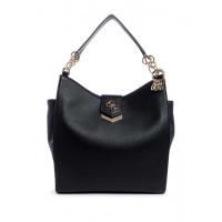 GUESS kabelka Kelsey Pebbled Shopper černá vel.