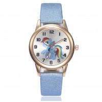 Dětské zlaté hodinky Můj malý pony - 3 barvy Barva: Modrý