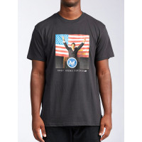 Billabong AI FOR PRESIDENT black pánské tričko s krátkým rukávem - XL