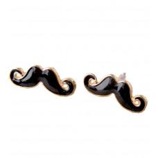 Náušnice Movember - 3 barvy Barva: Černý