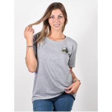 Burton ASHMORE SCOOP Gray Heather dámské tričko s krátkým rukávem - M