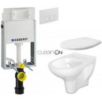 GEBERIT - SET KOMBIFIXBasic včetně ovládacího tlačítka DELTA 50 Bílé pro závěsné WC CERSANIT ARTECO CLEANON + SEDÁTKO (110.100.00.1 50BI AT2)