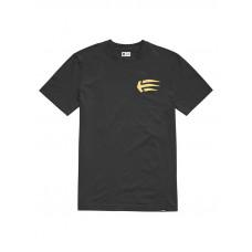 Etnies Joslin BLACK/GOLD pánské tričko s krátkým rukávem - M