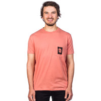 RVCA THUMBS UP TERRACOTA pánské tričko s krátkým rukávem - M