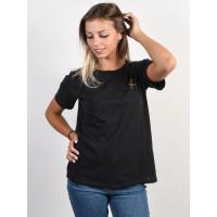 Billabong LIVE IN THE SUNSHINE black dámské tričko s krátkým rukávem - S