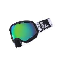 Horsefeathers CHIEF black birch/green chrome pánské brýle na snowboard