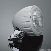 Přídavné moto světlo Highway Hawk, natočení o 90°, E-mark, chrom (1ks) - Chrom - Highway Hawk HWH 68-223376