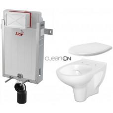 ALCAPLAST - SET Renovmodul - předstěnový instalační systém + WC CERSANIT ARTECO CLEANON + SEDÁTKO (AM115/1000 X AT2)