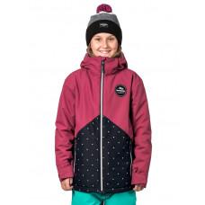 Horsefeathers JUDY sangria/dots dětská zimní bunda - XL