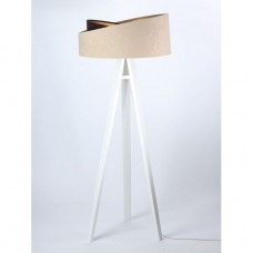 Stojací lampa Awena mix béžová + zlatý vnitřek + bílé nohy