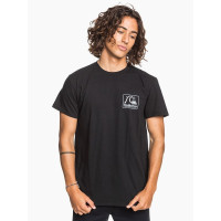 Quiksilver BEACH TONES black pánské tričko s krátkým rukávem - L