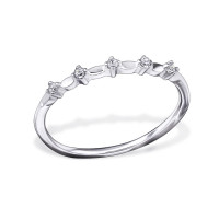 OLIVIE Stříbrný prsten se zirkony 0679 Velikost prstenů: 8 (EU: 57 - 58)