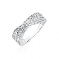 OLIVIE Stříbrný prsten se zirkony 2409 Velikost prstenů: 8 (EU: 57 - 58)