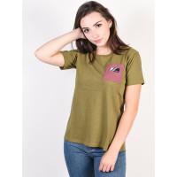 Burton BEL MAR MARTINI OLIVE dámské tričko s krátkým rukávem - L