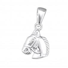 OLIVIE Stříbrný přívěsek KŮŇ 4059